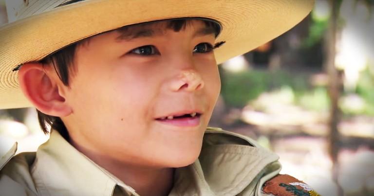 Sick Little Boy's Wish Comes True As He Becomes A Park Ranger