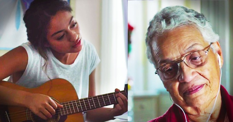 Young Woman Gives Touching Gift To Her Grandma