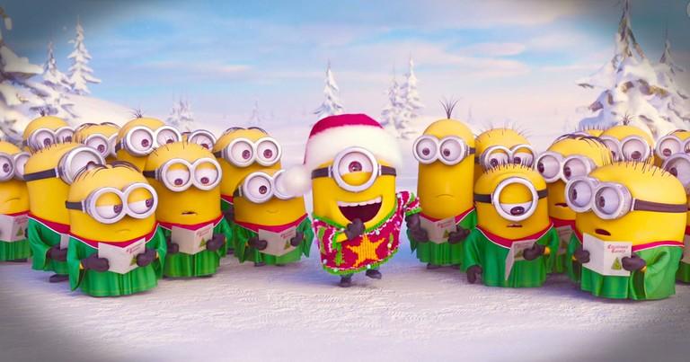 The Minions Sing A Christmas Carol To Say Merry Christmas