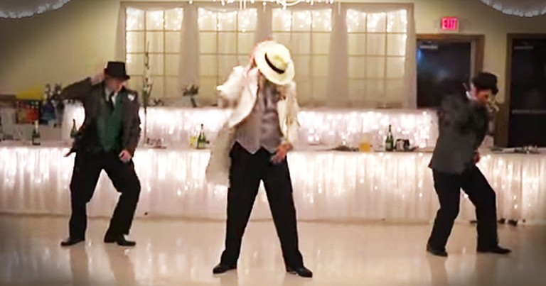 A Wedding Party Stuns Their Guests With a Surprise Dance - and It's Smooth