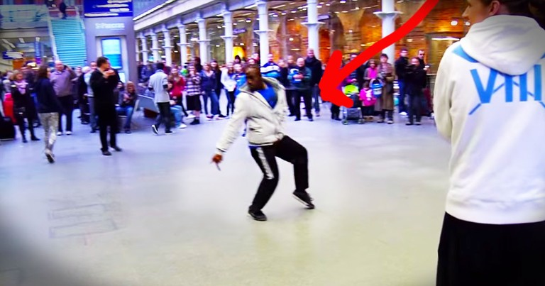 A Single Dancer Starts an Insane New Years Eve Flash Mob