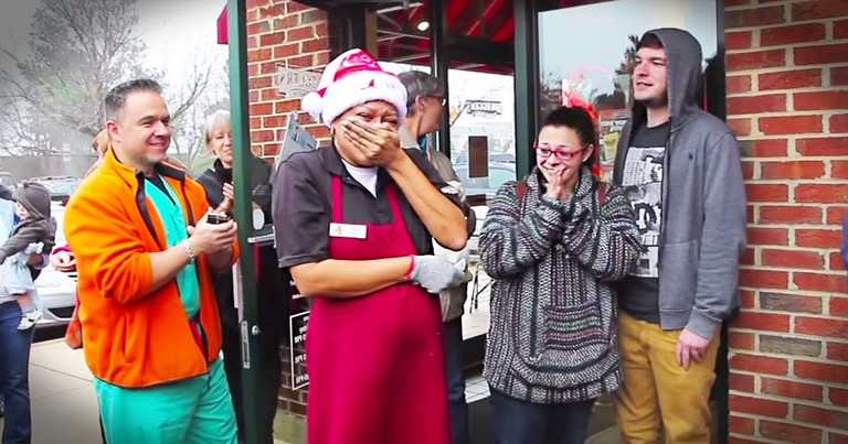 Customers Buy Car For Beloved Bagel Shop Employee