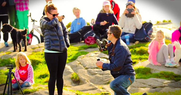 Celebrity Surprise-Filled Proposal Will Make Your Heart Sing
