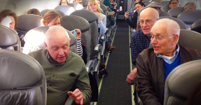 Flight Delay Leads To Impromptu Barbershop Quartet Performance