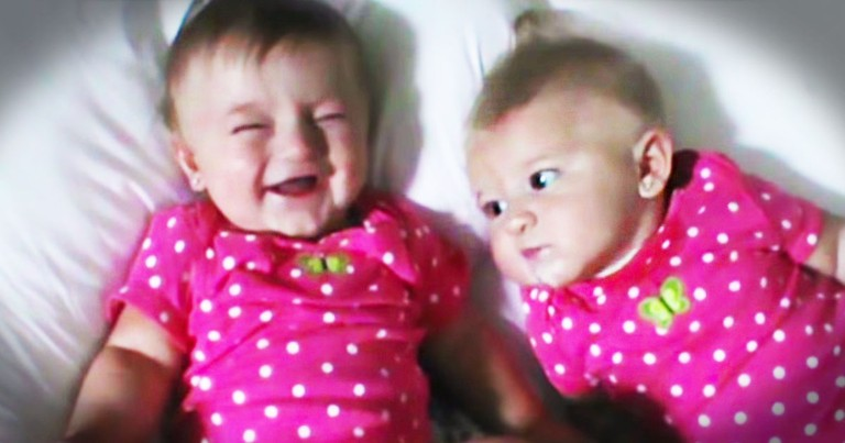 Funny Baby Makes Her Twin Sister Laugh With THIS!