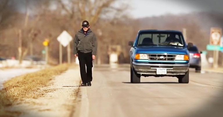 Janitor Walks 35 Miles A Day To Work To Support Family