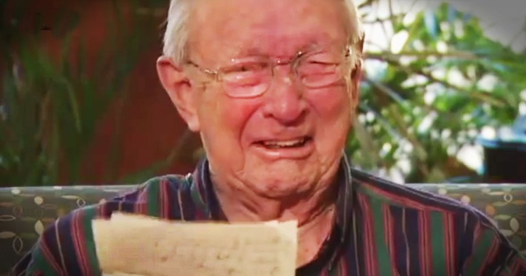 Return Of Lost Love Letter Brings Tears For WWII Vet