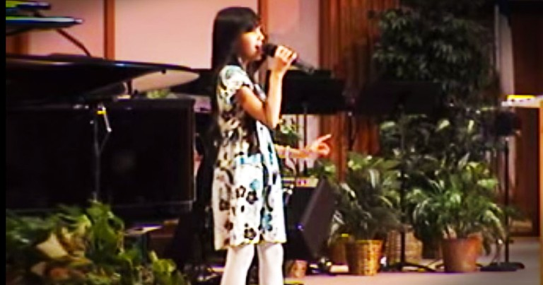 Young Girl Beautifully Sings My Redeemer Lives