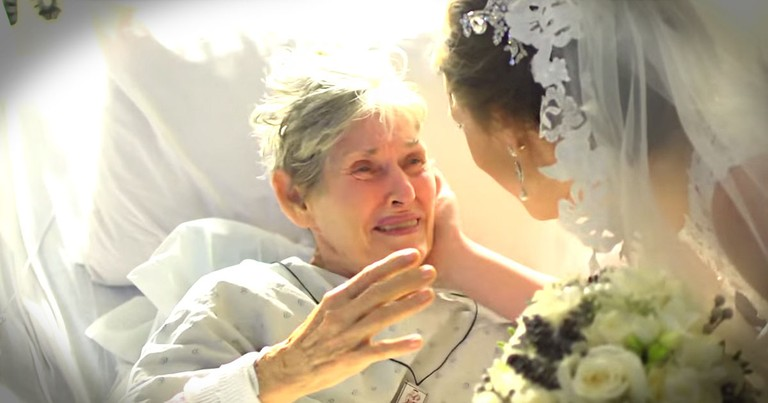 Bride Has Amazing Hospital Surprise For Grandma!