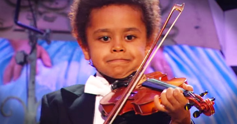 Adorable 5-Year-Old Violin Prodigy has an Amazing Gift From God