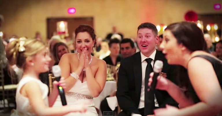 Flower Girl Has ADORABLE Wedding Surprise--Aww!