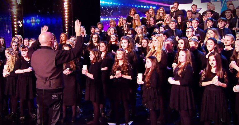 160-Person Choir Sent So Many CHILLS Up My Spine!
