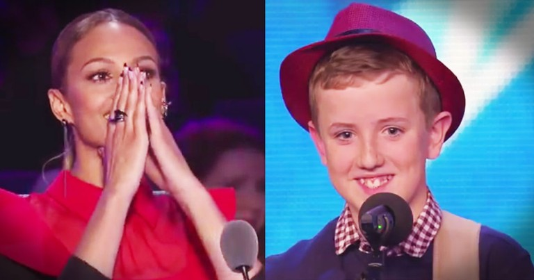 12-Year-Old KILLS His Audition With A Song HE Wrote--Aww!