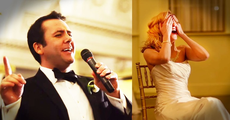 Groom Takes The Mic And SHOCKS His Bride!
