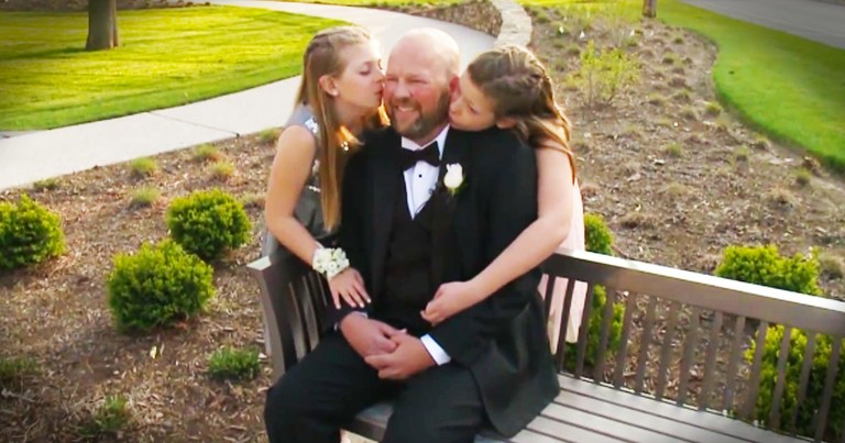 2 Girls Face Tragedy With An Incredible Gift For Their Dying Dad