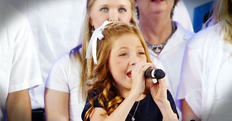 11-Year-Old Sings National Anthem. . .With A CHOIR!