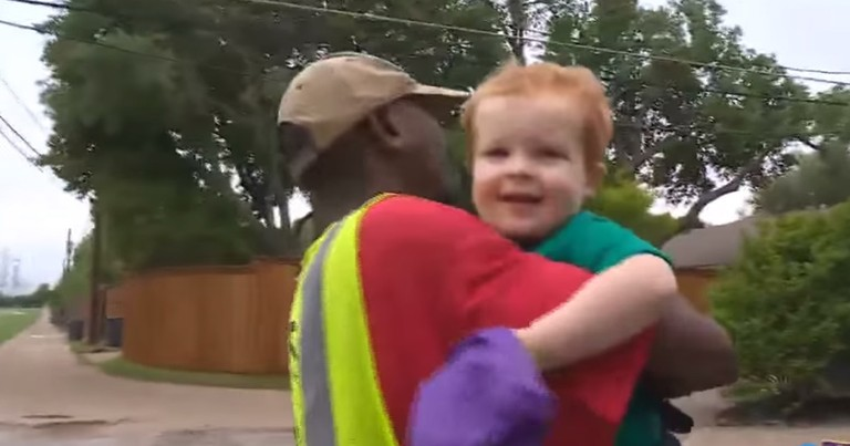 2-Year-Old Says Sweetest Goodbye To His BFF Garbage Man