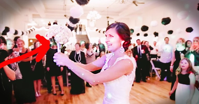 This Bride Stopped The Bouquet Toss. All For The Cutest Proposal Ever!