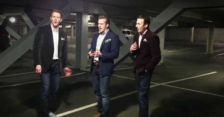 3 Guys Sang One Of My Favorite Songs In A Parking Garage . . . A CappellAwesome!