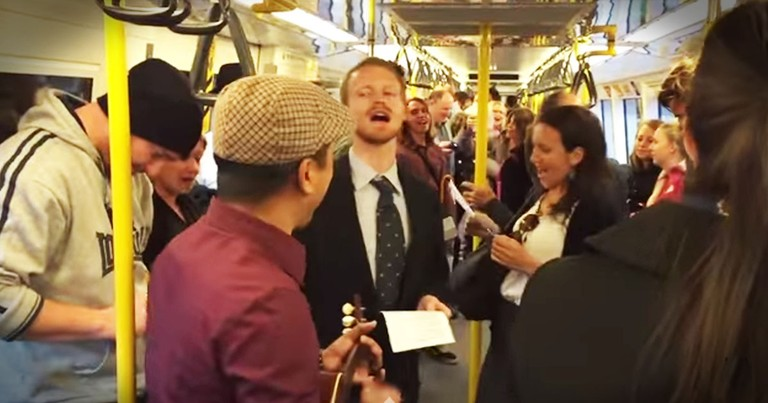 He Started Singing On A Train And Then THIS Happened