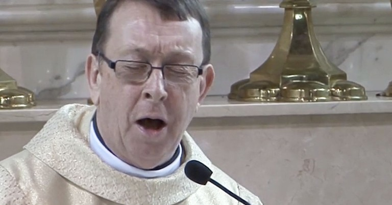 These Wedding Guests Have a Whole New Reason to Say Hallelujah!  Um...Coolest Priest EVER!