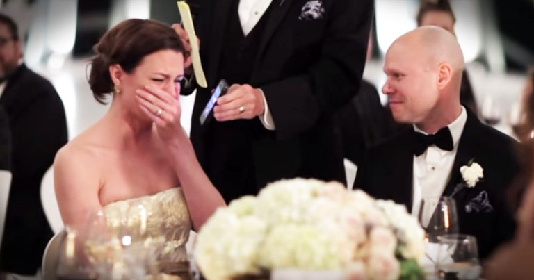 Her Grandpa Couldn't Come To Her Wedding, So He Did THIS - TEARS!