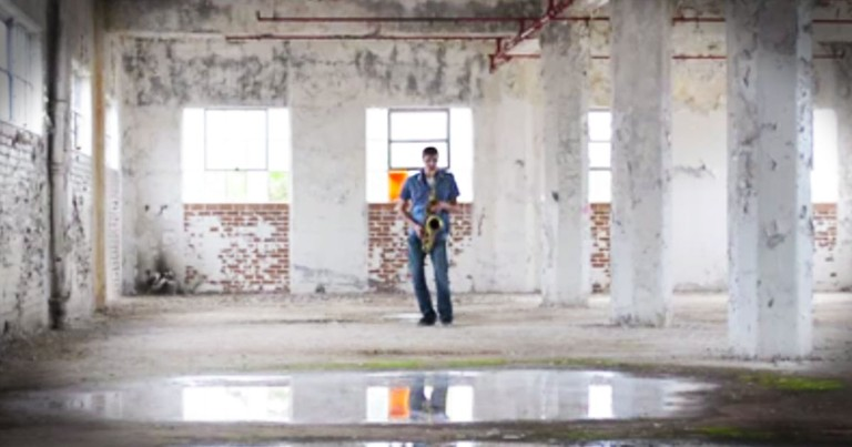 He Started Playing A Saxophone In An Empty Warehouse...CHILLS