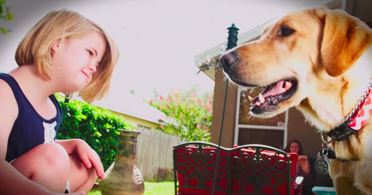 Find Out Why This Sweet Girl's Service Dog Is Different!