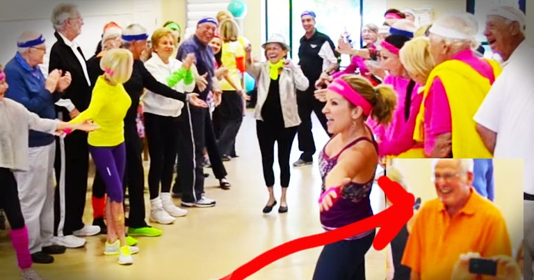 Wife's 80th Birthday Flash Mob For Her Husband Is Too Cute