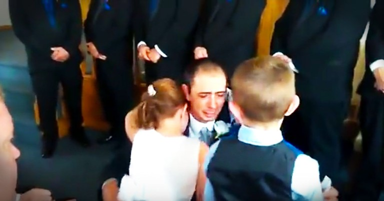 Groom's Vows To His 3 New Children Will Have You In Tears