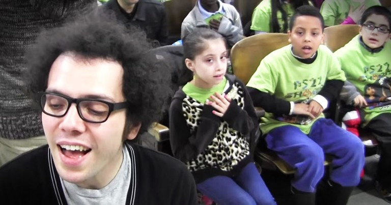 PS22 Choir Emotionally Sings 'Say Something'