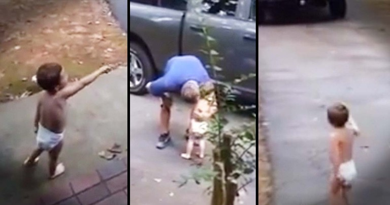 Little Boy Says Sweetest Goodbye To His Daddy