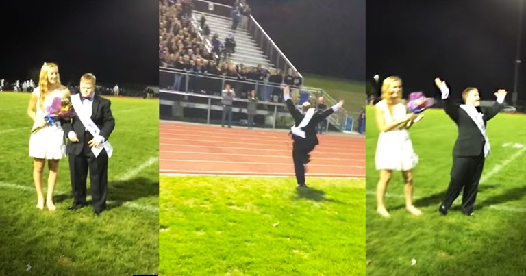Homecoming King's Reaction To Winning Will Make Your Week