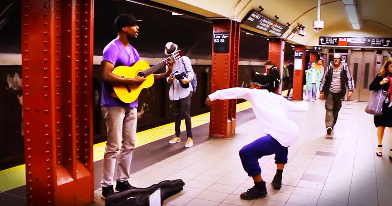 A Dancer And Street Musician Collide In Beautiful Subway Performance