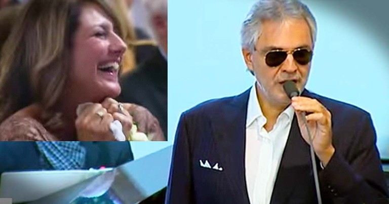Andrea Bocelli Surprises A Bride At The Alter