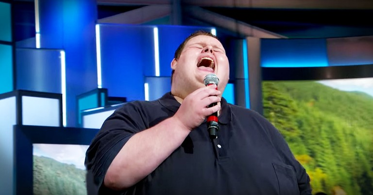 He's Singing To Save His Life And You'll Be WOWED