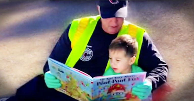 Firefighter's Act Of Kindness Is Going Viral For The Best Reasons