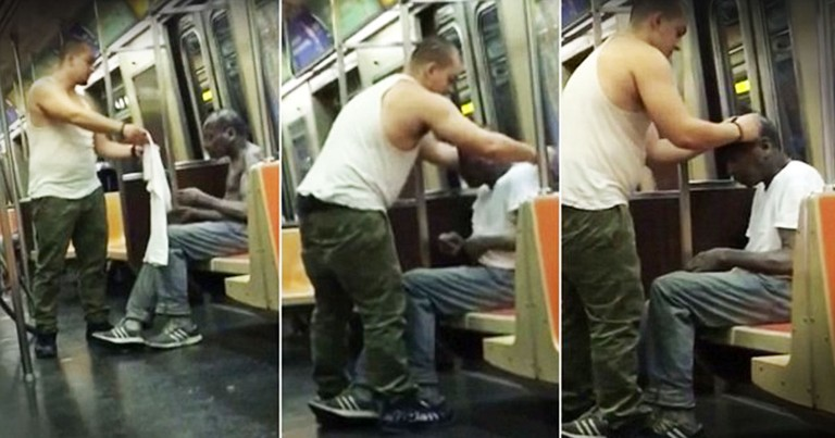 Man Gives A Stranger The Shirt Off His Back...Literally!