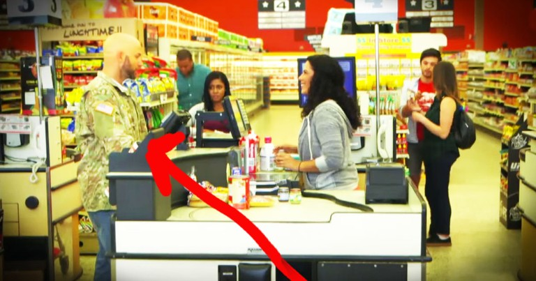 Veteran Who Couldn't Pay For Groceries Get's Incredible Surprise