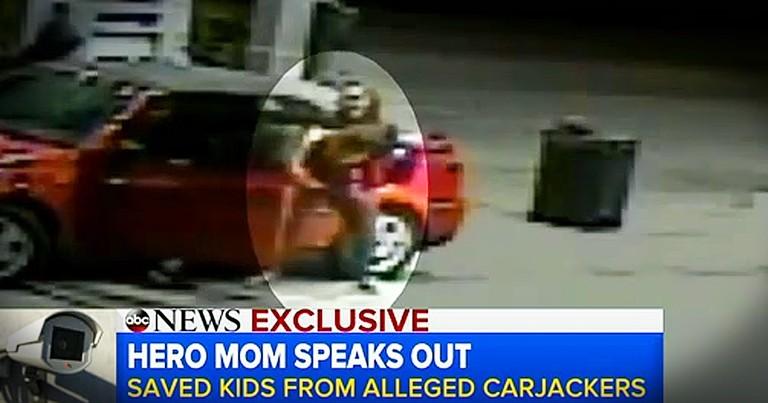 Momma Fights Back When Carjackers Threaten Children