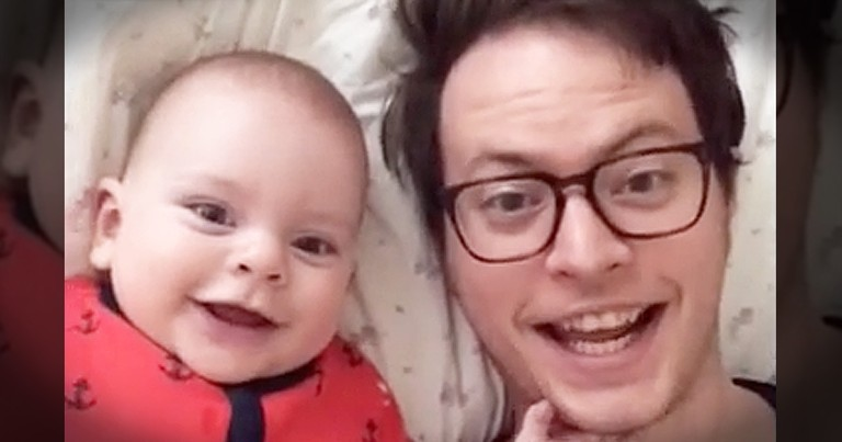 Baby And Daddy Have Hilarious Time While Mom Is Away