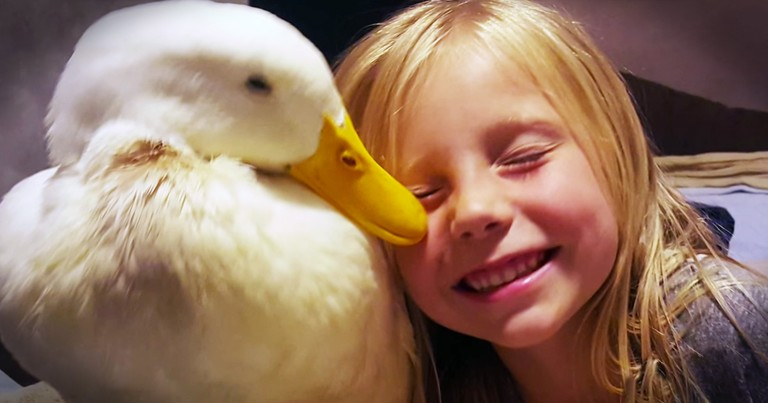 5-Year-Old Girl And Her Duck Will Make Your Day