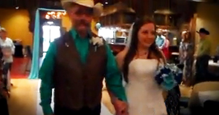 Father Walks His Daughter Down The Aisle Right After Risky Brain Surgery