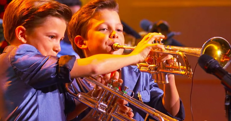 Trumpet Playing 11-Year-Old Twins Will Wow You