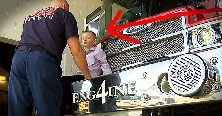Get Tissues For This Little Boy Thanking The Firefighters Who Saved Him