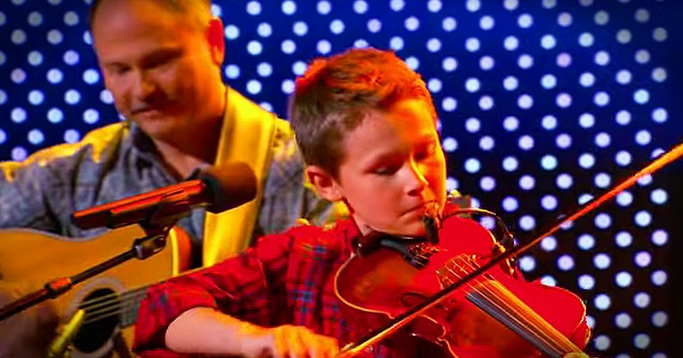 Little Boy's Big Fiddle Talent Will Make You Smile