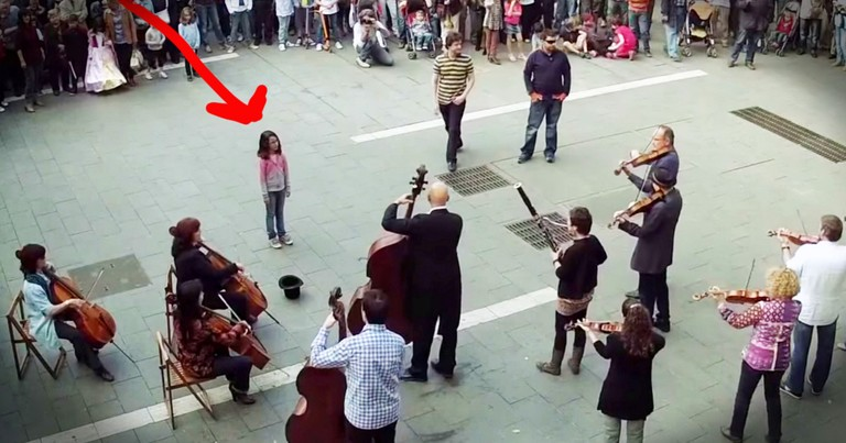 One Little Girl Starts Beautiful 'Ode to Joy' Flash Mob