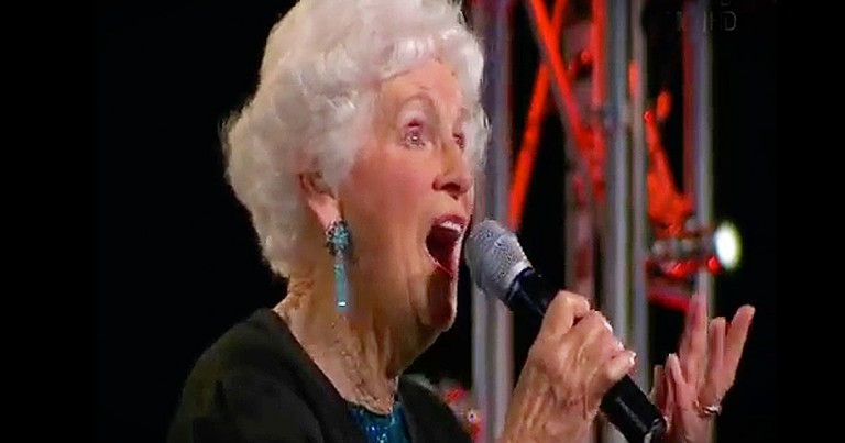 91 Year-Old Woman Follows Her Dreams and Sings on National Television