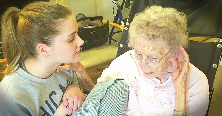 Teen Singing Hymn For Her Great-Grandmother Is Touching