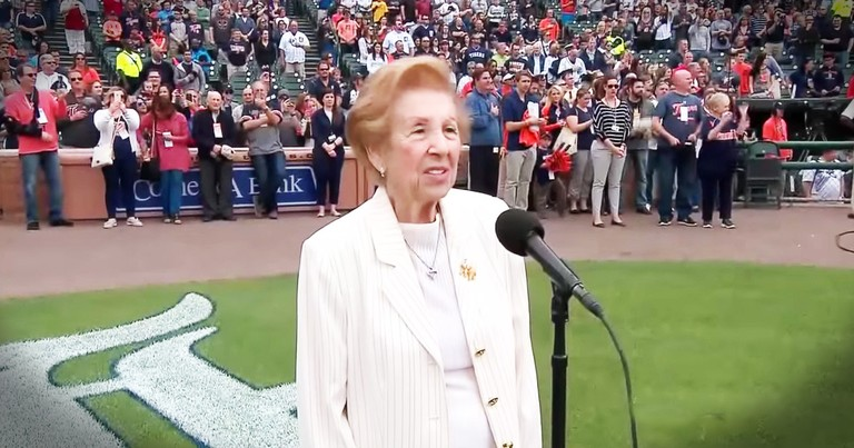 Holocaust Survivor Sings The National Anthem And Makes Your Day